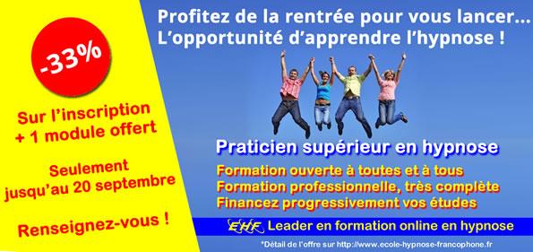formation en hypnose promotion