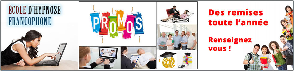 Tarifs , remises , promotions , prix des formations en hypnose thérapeutique