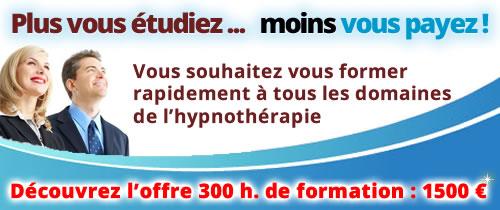 Formation en hypnose de 300 heures à distance en ligne par internet
